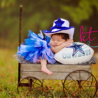 Dallas Cowboy baby cowboy hat you pick the size and colors