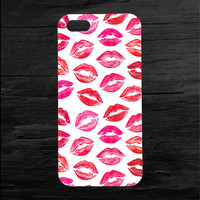 Lipstick Kiss Print iPhone 4 and 5 Case
