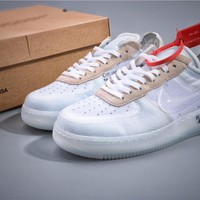 Off White OW x Air Force 1 White Sneaker