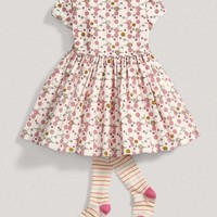 Girls Two Piece Bird Dress And Tights Set