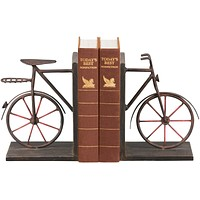"""8""""H Pair Bicycle Bookends Rusty Brown"""