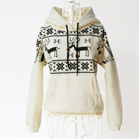 Reindeer hooded sweater with thickened cotton fabric [40]