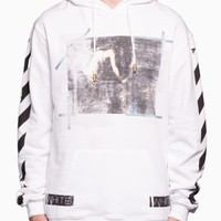 Caravaggio hooded sweatshirt from the S/S2016 Off-White c/o Virgil Abloh in white