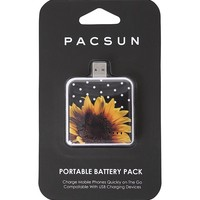 PacSun Sunflower Portable Battery Pack - Womens Scarves - Black - One