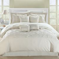Chic Home Valde Beige/Beige Queen 8 Pc Comforter Set