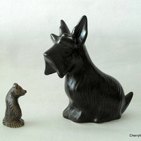 Scottie dog , by Arnold Wiigs Fabrikker (AWF) . 23 cm ceramic Dog figurine , Norway Mid Century Modern.