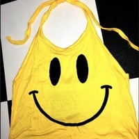 SWEET LORD O'MIGHTY! YELLOW SMILEY HALTER