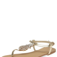 Gold pineapple sandals