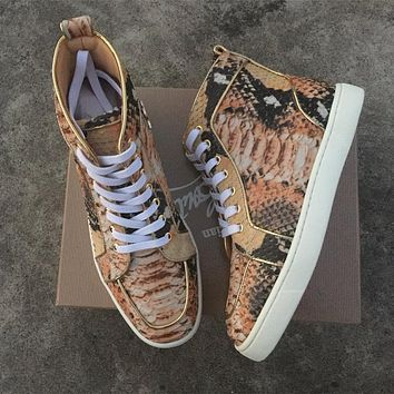 Christian Louboutin CL Python Style #2257 Sneakers Fashion Shoes Online