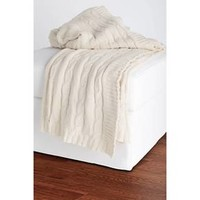 Cable Knit Sweater Throw - Rizzy Home