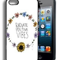 Good Vibes Floral Hipster Popular Cute Quote Iphone 5 and 5s Case