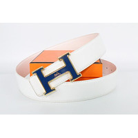 Hermes belt men's and women's casual casual style H letter fashion belt358