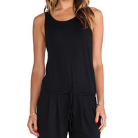 Feel the Piece Robby Romper in Black
