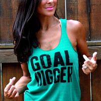 Goal Digger. EcoHeather Workout Tank. by FiredaughterClothing