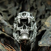 Jaguar Skull Ring - Stainless Steel