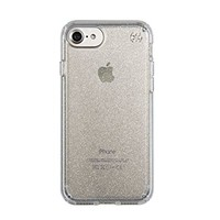 Speck Products Presidio Clear+Glitter Case for iPhone 7 - Gold Glitter/Clear