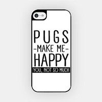 for iPhone 6/6S Plus - High Quality TPU Plastic Case - Pugs Make Me Happy. You, Not So Much - Pug Lover - Dog Lover - Pet Lover - Funny