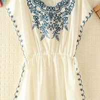 Embroidery Rim and Front Dress JYE843 from topsales