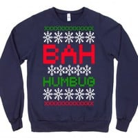 Navy Sweatshirt | Scrooge Ugly Sweater Christmas Shirts