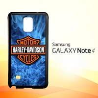 Harley Davidson Blue Flame X4978  Samsung Galaxy Note 4 Case