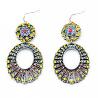 Multi Color Wheel Earrings