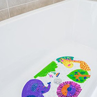 Safest Non-Slip Baby Bath Mat for Tub - Perfect for Bathroom and Kids - Money Back Guarantee