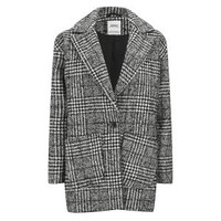 ONLY WOMEN'S PICADELLY WOOL HOUNDSTOOTH BOX COAT - BLACK