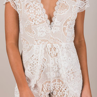 Beauty Abounds Romper, Ivory