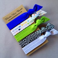The Dakota Hair Tie-Ponytail Holder Collection - 5 Elastic Hair Ties by Elastic Hair Bandz on Etsy