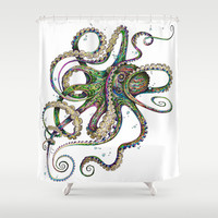 Octopsychedelia Shower Curtain by TAOJB