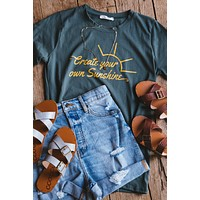 Create Your Own Sunshine Graphic Tee, Olive
