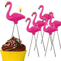 Pink Flamingo Birthday Candles