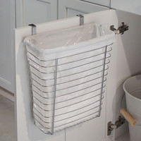 Axis Over-the-Cabinet Wastebasket - Chrome