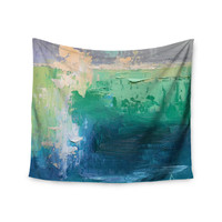 """Carol Schiff """"Sea Music"""" Teal Painting Wall Tapestry"""