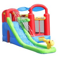 Bounceland Wet or Dry Inflatable Bounce House With Ballpit - Red/ Blue/ Yellow