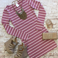She's Looking at You Tunic Dress: Dusty Rose