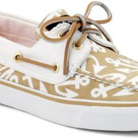 Sperry Top-Sider Bahama Anchor Print 2-Eye Boat Shoe SandAnchors, Size 5.5M  Women's Shoes