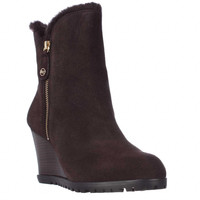 MICHAEL Michael Kors Whitaker Wedge Ankle Boots - Coffee
