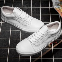 Trendsetter Vans Old Skool Leather Flats Sneakers Sport Shoes