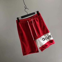 Givenchy 18 autumn outfit new embroidery logo stitching shorts 007