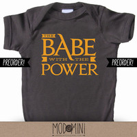PREORDER - The Babe With The Power -  Labyrinth Inspired Unisex Baby Bodysuit for Super Stylish Kids
