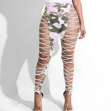 Camouflage Print Lace