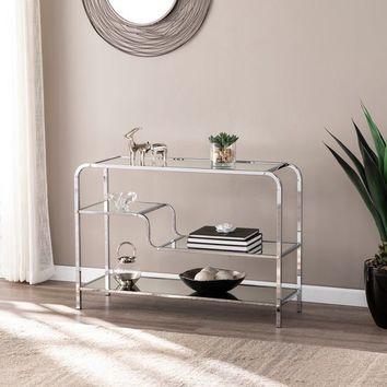 Silver Orchid Hinding Mirrored Console Table | Overstock.com Shopping - The Best Deals on Coffee, Sofa & End Tables