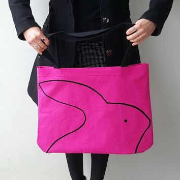 Over-sized Rabbit Tote Bag