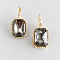 Grey Architecture Crystal Earrings
