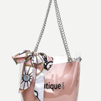 Twilly Scarf Chain Tote Bag