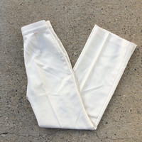Vintage 70s Levis beige / off white high waisted trousers / pants, size 25