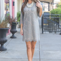 Can't Live Without You Dress, Gray