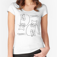 Cats T-shirt - Fitted Scoop Neck Women's T-shirt