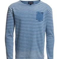 Scotch & Soda Indigo Breton With Dip Dye Effects (Dessin A) - In Stock! - Fast Delivery with Boozt.com
